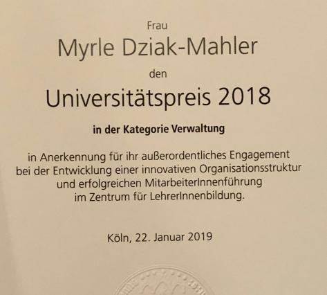 Universitätspreis der Uni Köln