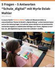"""5 Fragen – 5 Antworten zum Thema """"Schule_digital"""""""